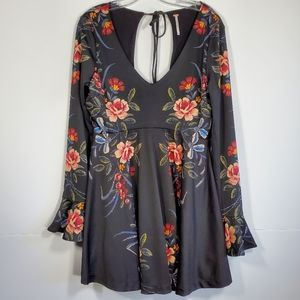 Free People Date Night Bell Floral Fit and Flare M